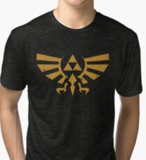 Triforce Crest - Legend of Zelda Tri-blend T-Shirt