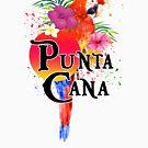Punta Cana Dominican Republic Souvenir Tropical Macaw by MyHandmadeSigns