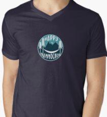 Happy Hammocker - Nature Night Blue Men's V-Neck T-Shirt
