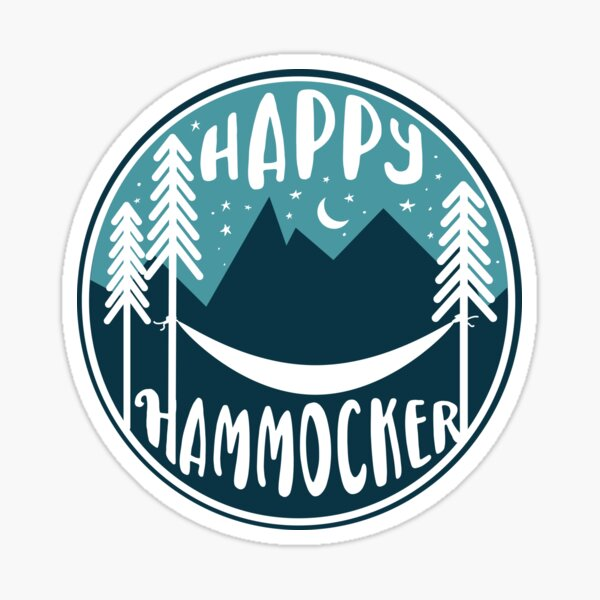 Happy Hammocker - Nature Night Blue Sticker