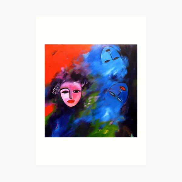 Party face, blue dreams Art Print