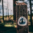 PCT Pacific Crest Trail sign by John Heywood