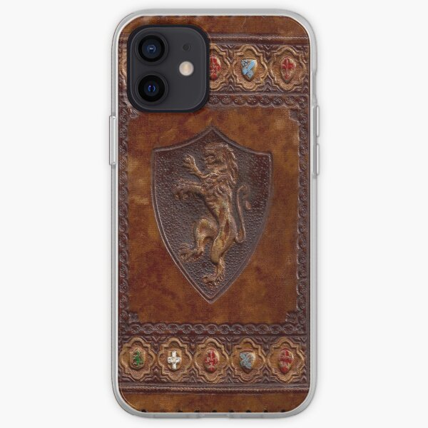 Hand-Tooled Leather Medieval Book Cover iPhone Soft Case