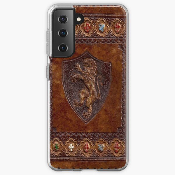 Hand-Tooled Leather Medieval Book Cover Samsung Galaxy Soft Case