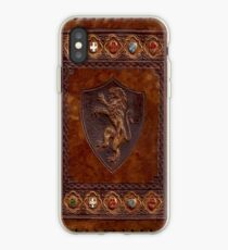 Hand-Tooled Leather Medieval Book Cover iPhone Case