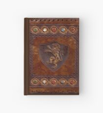 Cuaderno de tapa dura Hand-Tooled Leather Medieval Book Cover