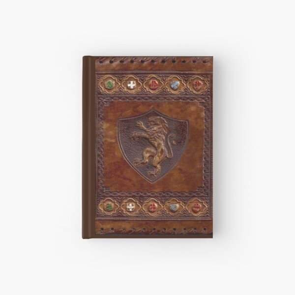 Hand-Tooled Leather Medieval Book Cover Hardcover Journal
