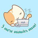 «Lala the cute cat - 5 minutos más, mamá!» de komorebistars