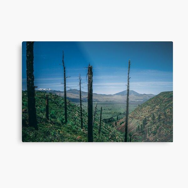 Hat Creek Rim trail - Lost Creek canyon PCT Metal Print