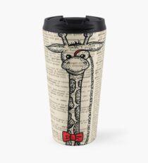 Giraffe with Monocle Travel Mug