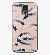 Orca in Motion / blush ocean pattern Case/Skin for Samsung Galaxy