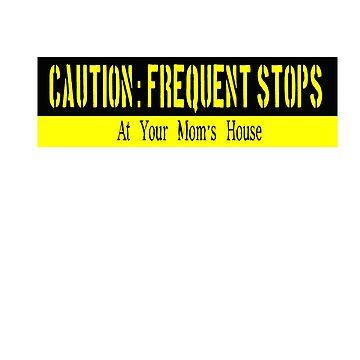 Bumper Sticker: Frequent Stops by ZeroAlphaActual