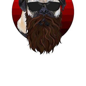 pug dog hipster by printworxx