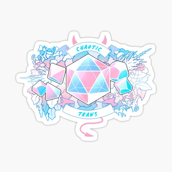 LGBT RPG - Chaotic Trans Sticker