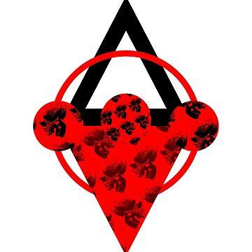 Skulls Red by creepyjoe