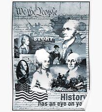 Alexander Hamilton, George Washington - History Gifts - USA, America Poster