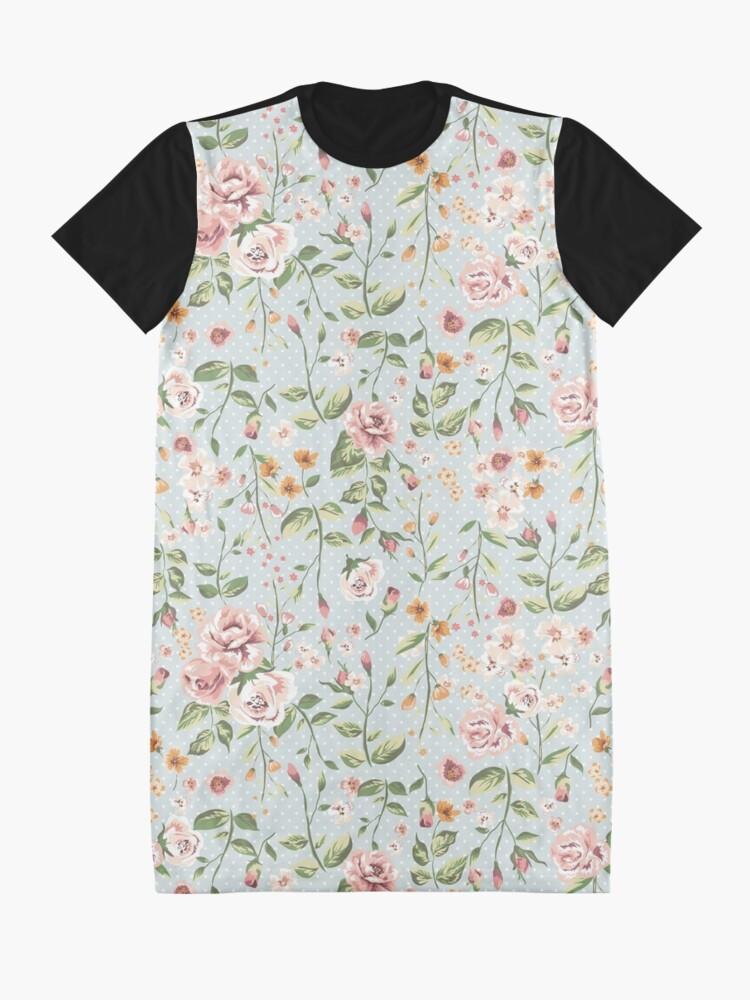 Alternative Ansicht von Zarte Blumen T-Shirt Kleid