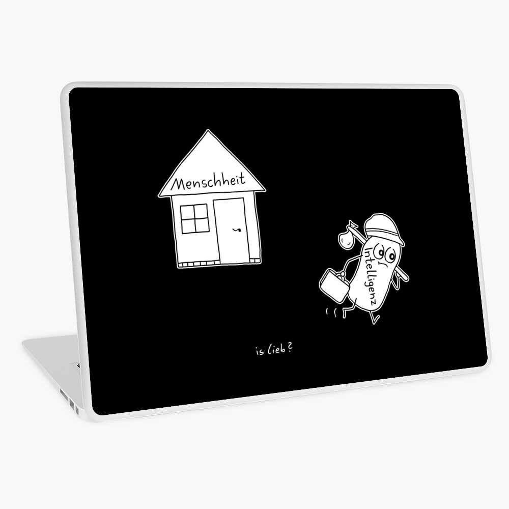 Bye islieb-Cartoon Laptop Folie