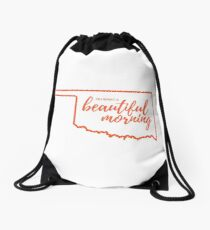Oh What a Beautiful Morning Drawstring Bag