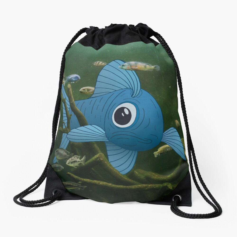 Fishtank Drawstring Bag