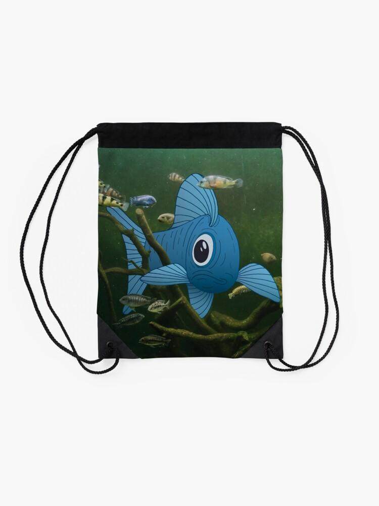 Alternate view of Fishtank Drawstring Bag