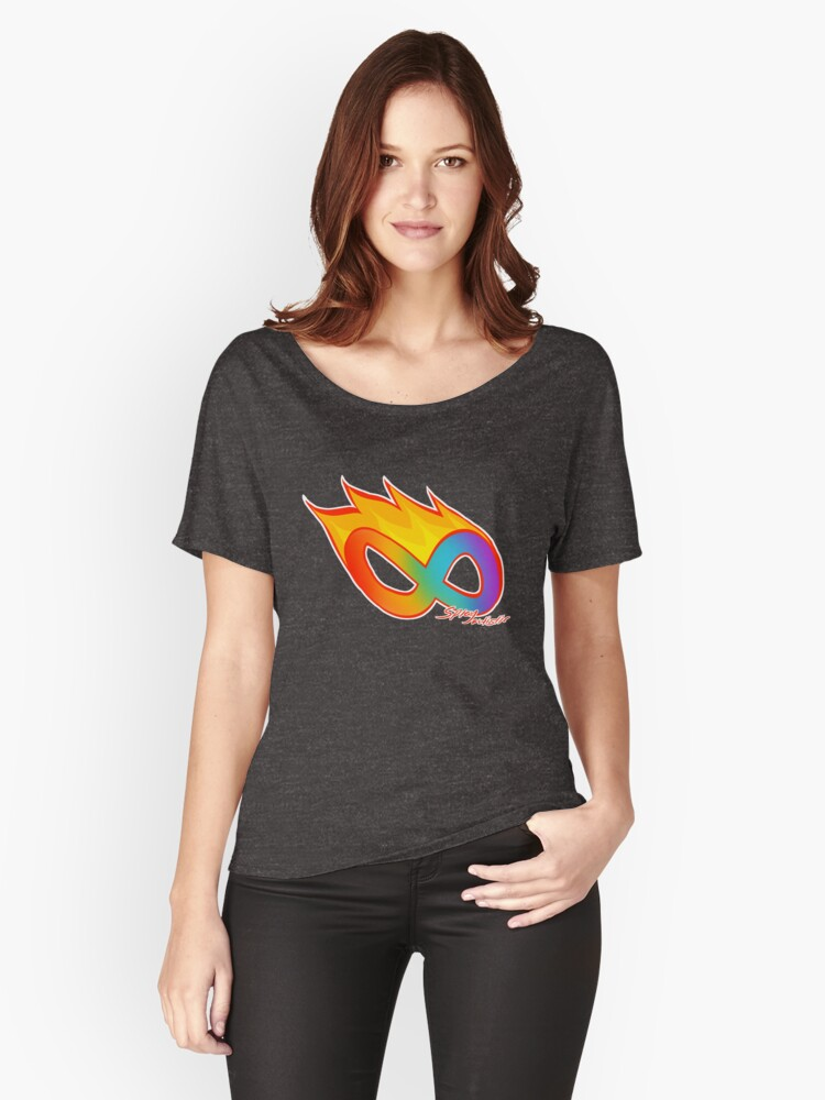 Spicy Autistic Pride Print Women's Relaxed Fit T-Shirt Front