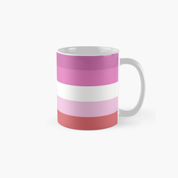 Lipstick Lesbian Pride Flag Classic Mug