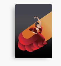 Art Deco styled Spain Flamenco dancer Canvas Print