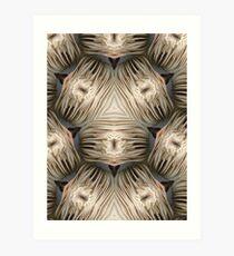White Fungi altered image Art Print