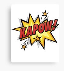 Kapow! Comic book retro art Canvas Print