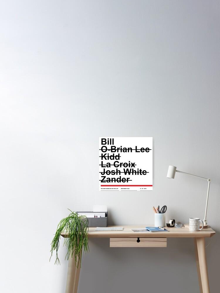 Hitman List Poster By Evlar Redbubble