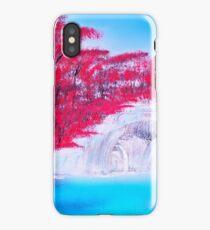 Crimson Cascade  iPhone Case