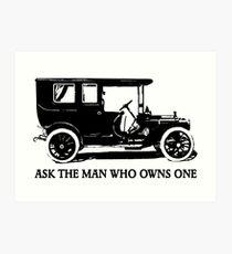 1909 Packard Limousine Slogan Art Print