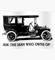 1909 Packard Limousine Slogan Poster