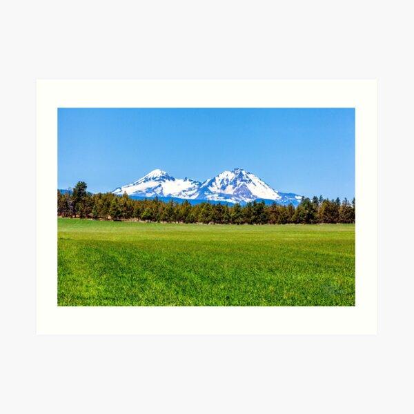 Three Sisters Mountains, By DAM Creative Art Print