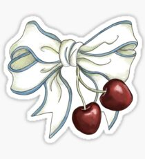 cherries-ribbon Sticker