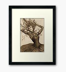 Dancing Tree Girl Framed Print