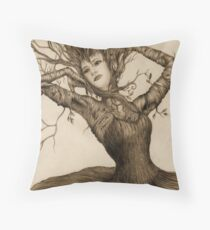 Dancing Tree Girl Throw Pillow
