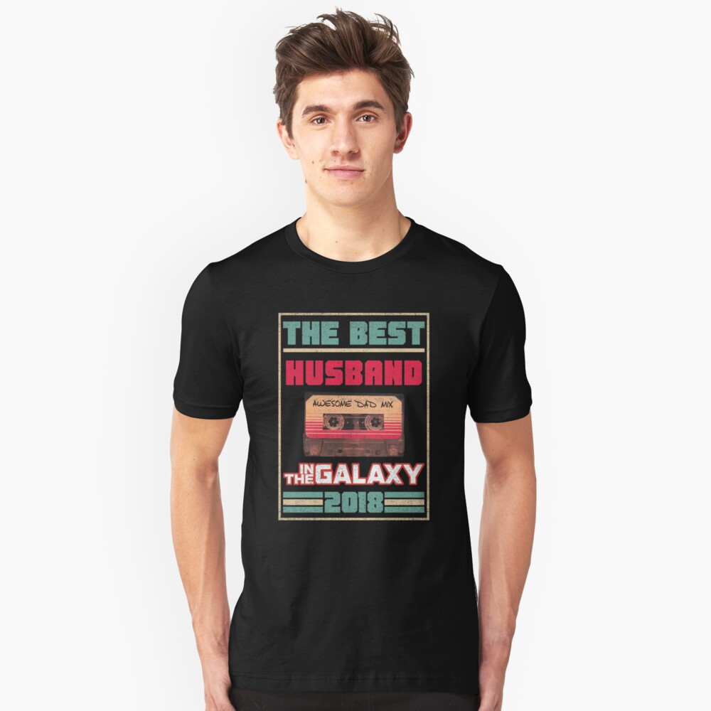 Best Husband In Galaxy 2018 Fathers Day Gift Unisex T-Shirt Front