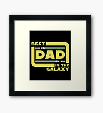 Best Dad In The Galaxy Shirt   Fathers Day Shirt   Lightsabers   Jedi Framed Print