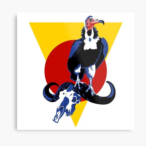 Necrosyrtes monachus, the hooded vulture Metal Print