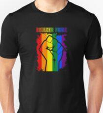 Boulder Colorado Gay Pride Shirt - Boulder Pride LGBT Rainbow Flag Shirt Unisex T-Shirt