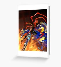 Spiderman's Fiery Feat Greeting Card