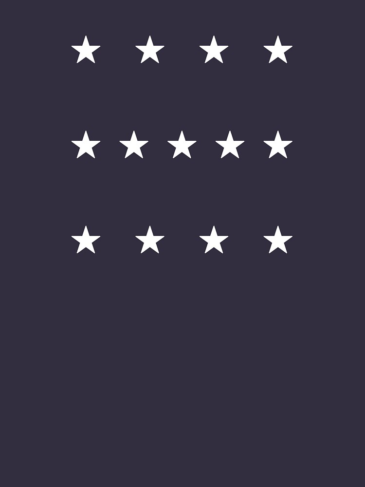 13-Star American Flag, 4–5–4 Design, Evry Heart Beats True by EvryHeart