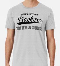 "Camiseta premium para hombre Morristown Frackers ""¡Bebe una cerveza!"" - Camisa Brockmire"