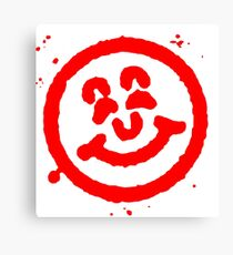Old School Smiley Face Stamp Canvas Print