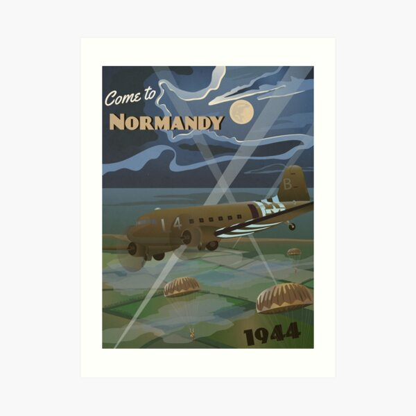 "Normandy 1944 ""D-Day Travel Poster"" Art Print"
