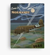 """Normandy 1944 """"D-Day Travel Poster"""" Canvas Print"""
