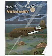 """Normandie 1944 """"D-Day Reise Poster"""" Poster"""
