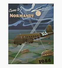"""Normandy 1944 """"D-Day Travel Poster"""" Photographic Print"""